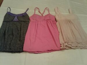 Lululemon 3pcSet Gray Pink Athletic Sports tank tank Shirt Top 4