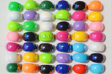 Hot Wholesale Lots 20pcs Mixed Color Fashion Shiny Resin Lucite Women/Men Rings