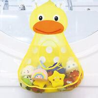 JP_ Cartoon Frog Duck Baby Kids Bath Toy Bathroom Mesh Bag Organizer Holder Sa