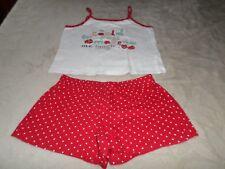 Pyjama D'été , fille , 6/8  ANS , rouge/blanc ,  Marque B-unity , Excellent état