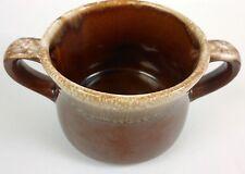 Vintage McCoy USA Brown Drip Double Handle Soup / Hot Chocolate Pottery Mug BD40
