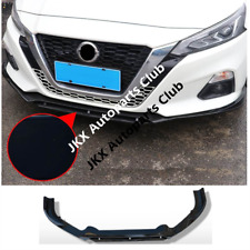 Gloss Black Front Bumper Lip Molding Cover Trim Spoiler For Nissan Altima 2019