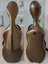 The champagne color carbon fiber cello case 4/4.strong ,light in weight