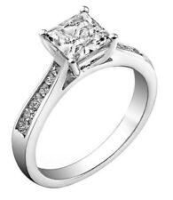 0.80Carat Princess Cut Diamonds Engagement Ring in 9K White Gold