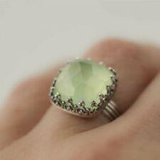 Fashion Ring Emerald Men Peridot Vintage Women Gold Vintage Plated Wedding