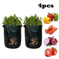 4pcs Potato Bags Tomato Veg Durable Re-Usable Balcony Patio Planters Grow Bag