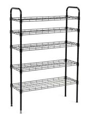 New JS Home 5 Tier Shoe Rack Wire Shelving