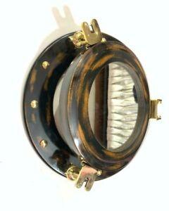 """Unique 12"""" Wooden Porthole-Window Round Glass Nautical Wall Decor Porthole"""