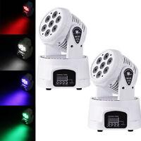 2-PACK 140W RGBW LED Moving Head Stage Light DMX512 DJ Disco XMAS Party Lighting