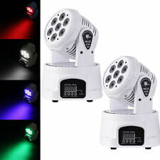 2PCS 140W RGBW LED Moving Head Stage Light DMX512 DJ Disco XMAS Party Lighting