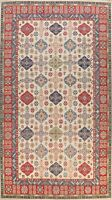 Vegetable Dye IVORY Super Kazak Oriental Large Area Rug Hand-knotted Wool 10x15