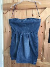 "Bustier Dress. Denim Dress Size 14 Chest 38"" Blue Dress. By Therapy Lovely Dress"