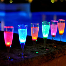 NEW! LED LIGHT CHAMPAGNE GLASS - WEDDING/NEW YEARS/PARTY FLUTE - SET OF 6 COLORS