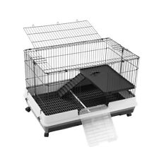 Paws & Claws Rabbit/Guinea Pig Large Pet Cage On Wheels 100x66cm Indoor/Outdoor