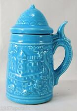 """4.5"""" Ceramic Mini Beer Mug Stein & Lid Paulann Japan Toothpick Holder Fun Size"""