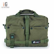EIRMAI Army Green SLR Camera Bag Messenger Shoulder Bag For Canon 60D 5DII Nikon