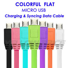 2A Rapid High Speed Short Flat Micro USB V8 Charger Cable Cord for Power Bank AU