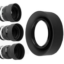 Hot 3 in 1 Collapsible Rubber Foldable Lens Hood 52mm DSIR Lens For Canon Nikon