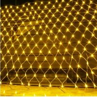 96/200/LED Fairy Net Mesh Curtain String Lights Xmas Wedding Party Decor Outdoor