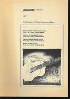 PLUGGE RECORDS: Heft I - Druckausgabe für Klavier, Gesang, Gitarre