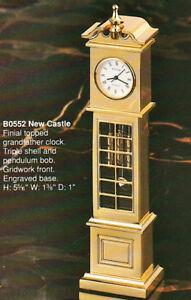 BULOVA Solid Brass Miniature Grandfather Clock New Castle B0552 -PERFECT AS GIFT