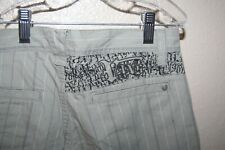 Vans V Zoot Gray Stripe Long Shorts Boys Size 16 New!