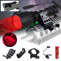 400yards Red LED Flashlight Hunting Coyote Weapon Torch QD/Scope Mount Air Rifle