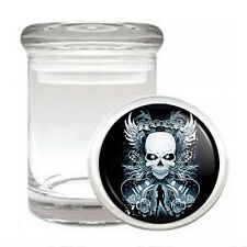 Skull Odorless Air Tight Medical Glass Jar Container Design-003