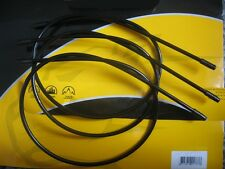 3 x 600mm Lengths of  Clarks 4mm Gear Outer Cable (Black) **Brand New**