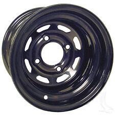 Club Car EZGO Yamaha Golf Cart Steel Wheel  Black 8 Window, 10x7 3:4 offset
