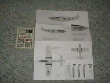 Aviation USK  decals 1/72 BAF P-51D Duchess Gentle Annie Croghans Cruiser   E98