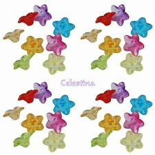 200 x 10mm Mixed Colour Flower Daisy Beads Brights Flowers Crafts - PB28