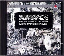 Mstislav ROSTROPOVICH: SHOSTAKOVICH Symphony No.10 LSO Teldec CD Schostakowitsch