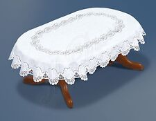 "Fancy oval white lace Tablecloth NEW 130x180 cm (71""x51"") perfect gift"