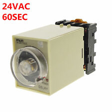 24VAC/DC 0-60 Seconds Power Off Delay Time Relay With Socket Base PF083A