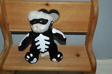 "Applause Halloween Bear Black Mask Skeleton Body 8"" Plush Boys & Girls 3 + Toy"