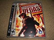 RAINBOW SIX VEGAS for SONY PLAYSTATION 3 PS3 USA NTSC Boxed Game Disc Instructio