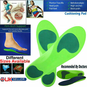 SHOE INSOLES PADS HEEL GEL FOOT FEET CUSHION SUPPORT INSERTS SILICONE COMFORT UK