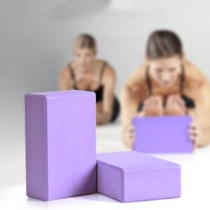1x Yoga Blocks Fitness Foam EVA Yoga Pilates Balance Stretching Exercise Workout