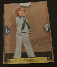 SHIRLEY TEMPLE 1930'S ORIGINAL CAPTAIN JANUARY WHEATIES CEREAL BOX PHOTO COVER