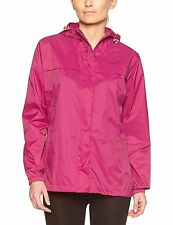 Womens Gelert Summer Berry Pink Outdoor Rainpod Packaway Jacket Coat Size 8
