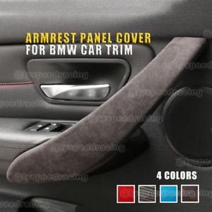Alcantara Door Armrest Panel Cover Trim ABS For BMW 3 4 F30 F31 F32 F34 F36 3gt