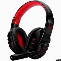 Cuffie gaming con microfono wireless Bluetooth V8 - Nero e rosso