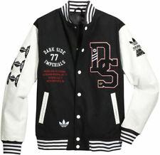 Adidas x Star Wars Gangsta Luxury Cool Baseball Jacket Varsity Wool Leather Coat