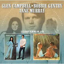 Bobbie Gentry - Bobbie Gentry & Glen Campbell / Anne Murray & Glen [New CD] UK -