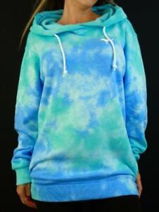 Victoria's Secret PINK Hoodie Sweatshirt Tie Dye Crossover Fleece Tunic NWT