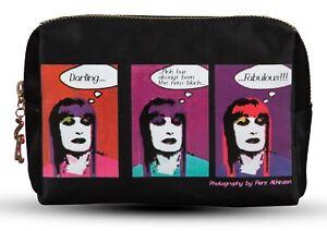 Zandra Rhodes Designer cosmetic bag black makeup case Gift Boxed for CHRISTMAS