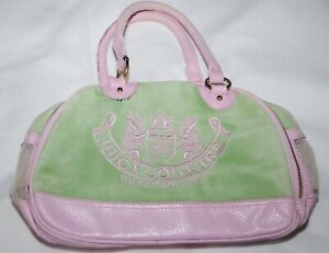 Juicy Couture Ladies Green and pink Hand Bag