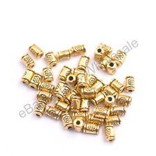 Tibetan Silver/Gold/Bronze tube Charm Spacer Beads for Bracelet 3139