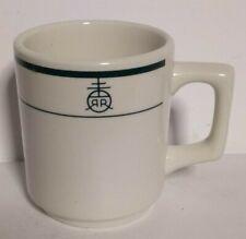 Vintage Buffalo China Diner RR INSIGNIA Restaurant Ware Coffee Mug USA Stripe